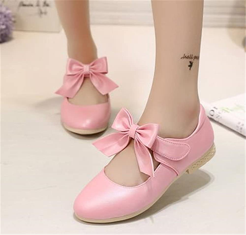 SUNNY Store 2018 Flower Girls Dress Ballet Flats Casual School Mary Jane Bow Shoes