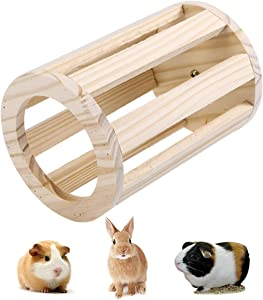 Rabbit Hay Feeder Rack Wooden Food Manger Grass Holder for Small Pets Bunny Chinchilla Guinea Pigs