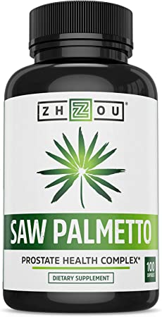 Zhou Saw Palmetto 500 mg | For Prostate Health | Healthy Urination Frequency & Flow | 100 Capsules