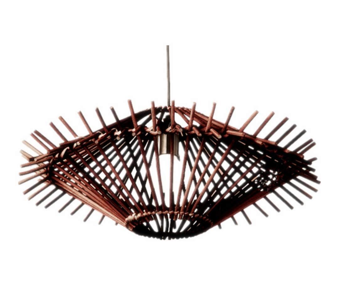 WUTONGEinfache handgewebte rattan UFO lampe garten bambus und rattan Persönlichkeit restaurant cafe teehaus hängen led lampen 50  20 CM