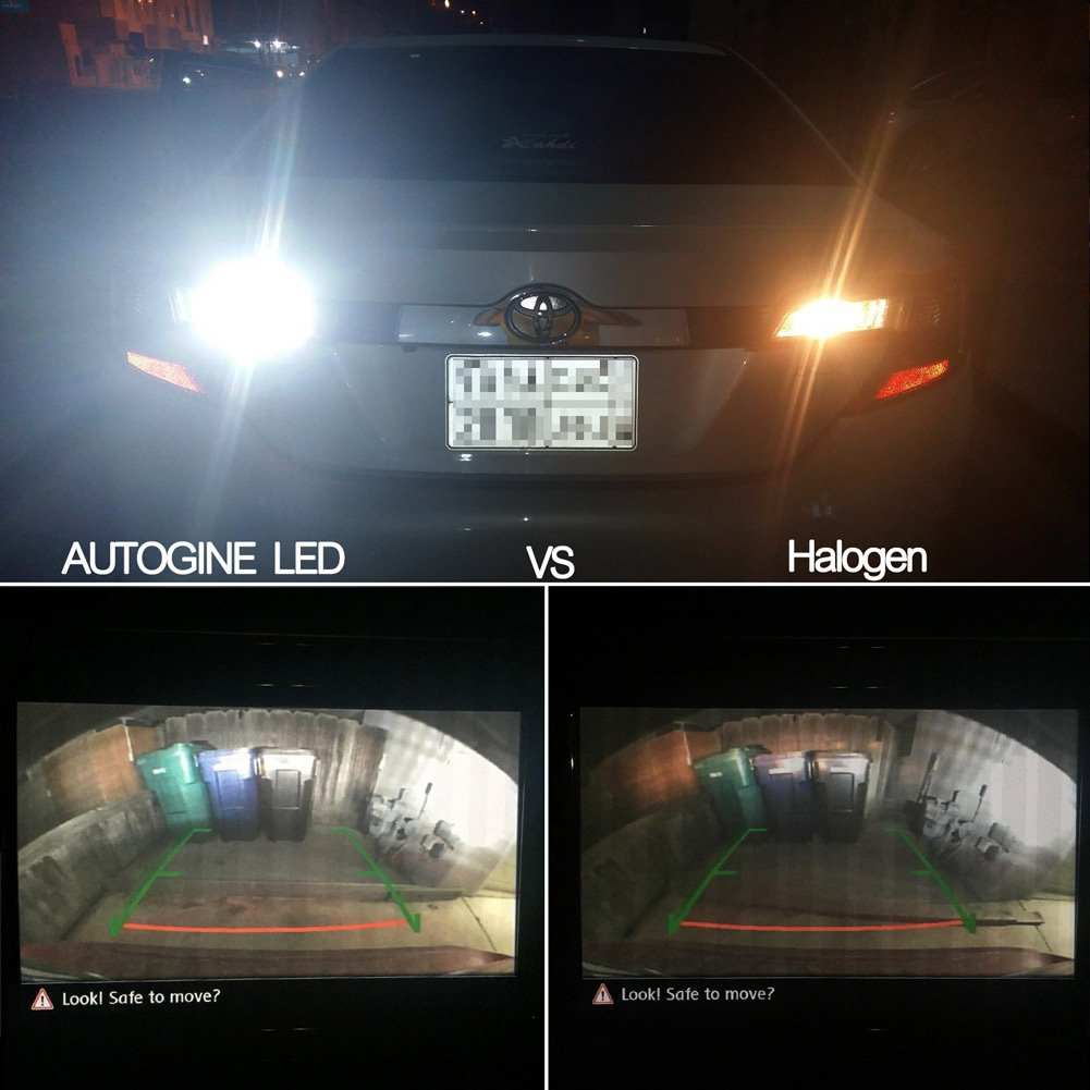 Xenon White AUTOGINE 4 X 1000 Lumens Super Bright 9-30V 3157 3156 3057 3056 4157 LED Bulbs 3014 54-EX Chipsets with Projector for Back Up Reverse Lights DRL Turn Signal Blinkers Tail Brake Lights