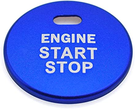 Ceyes Blue Engine Start Stop Button Cover Auto Ignition Start Stop Button Trim Ignition Switch Button Sticker Push Button Switch Cover Sticker for Subaru Forester Legacy Impreza Outback Ascent BRZ XV