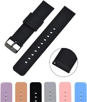 Amazon.com: MLQSS - Correa de silicona para reloj Samsung ...