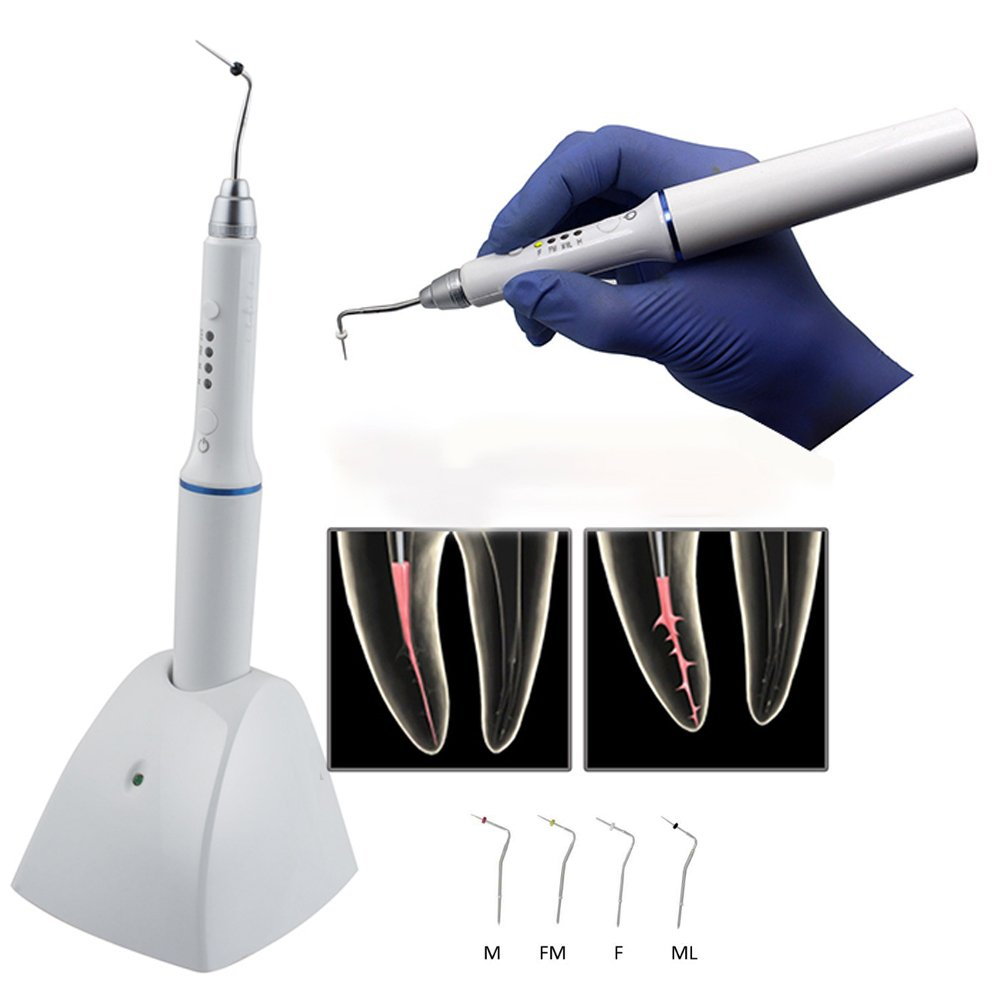 Genmine Dental Cordless Gutta Percha Obturation System Endo Heated Pen + 4 Tips 1 PACK (SHIPPING FROM US)