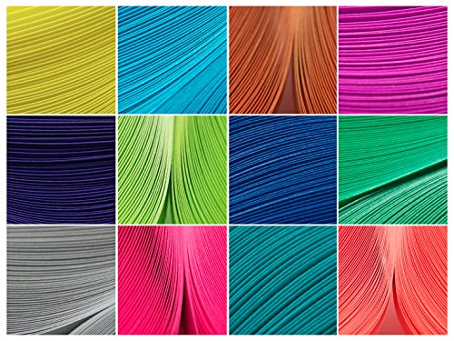 12 Packs of Culture Pop Premium Quilling Paper Strips 1/8' X 17' 50 Strips Ea. Pack (600 Total) Summer 2014 Colors Little Circles CPsping201514