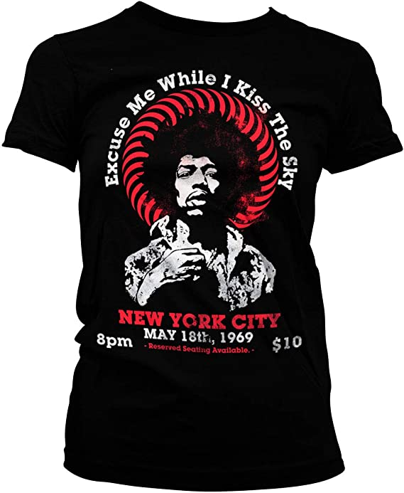 New JIMI HENDRIX STORY OF  LIFE  LICENSED CONCERT BAND T Shirt