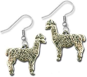 Pewter Alpaca Earrings by The Magic Zoo
