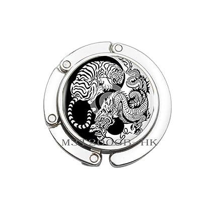 Arte Yin-Yang Dragon y Tiger bolsa gancho para estrología ...
