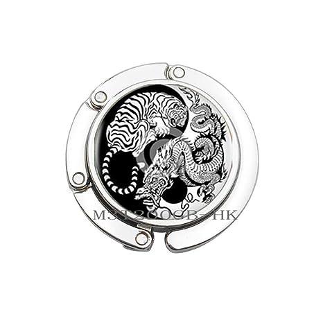 Amazon.com: Arte Yin-Yang Dragón y Tiger Bolso Gancho ...