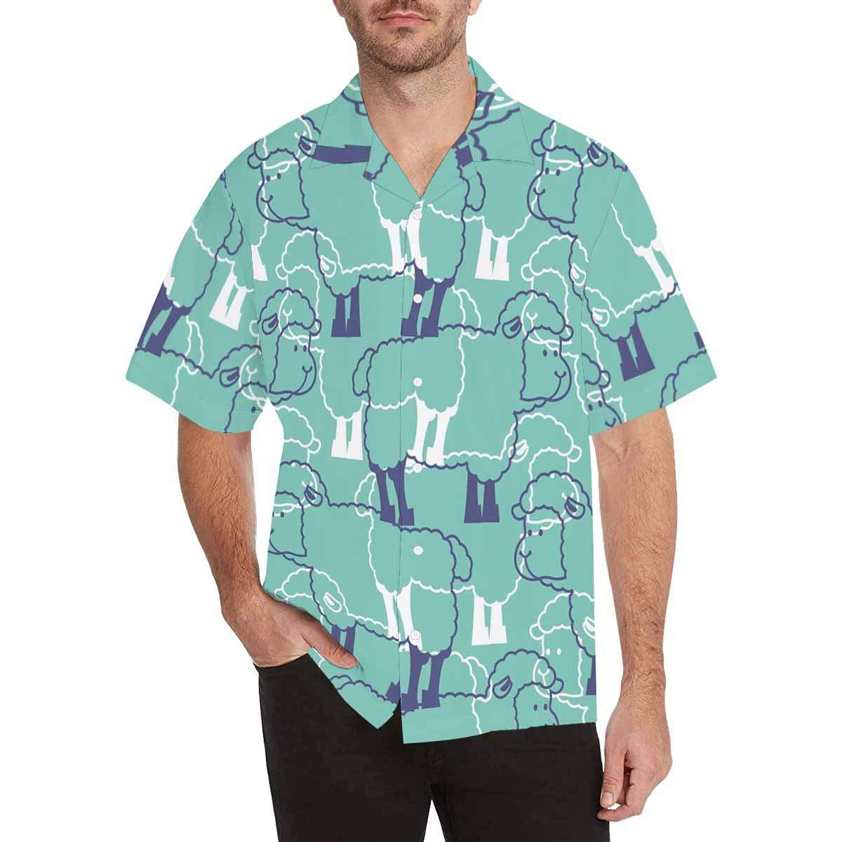 InterestPrint Sheeps Shirt Summer Short Sleeve Shirts