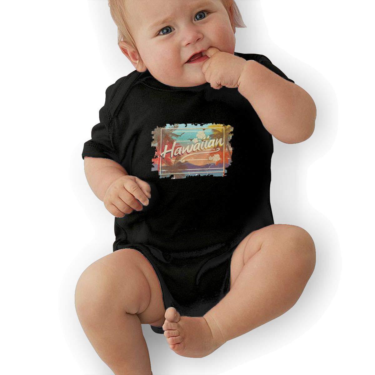 Bodysuits Clothes Onesies Jumpsuits Outfits Black Hawaiian Islands Art Design Baby Pajamas