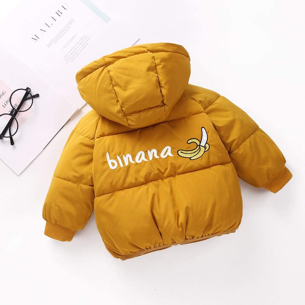 TheRang Kids Baby Girl Boys Winter Hooded Coat Cloak Jacket Thick Warm Outerwear Clothes