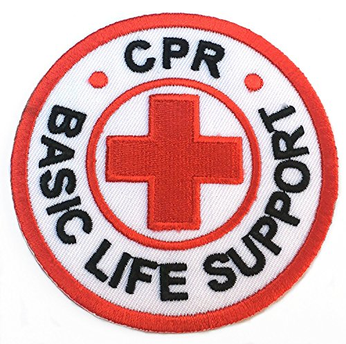 CPR Basic Life Support Patch Embroidered Iron on Badge / 3 Inch DIY Applique -