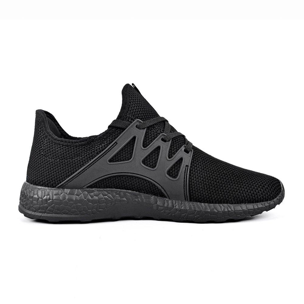 QANSI Men Sneakers Mesh Workout Shoes Flyknit Athletic Running Walking Gym Shoes Black Size 13 by QANSI