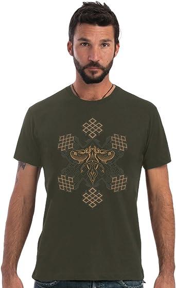 Camiseta de Mandalas de Sol - Ropa Urbana de diseño gráfico psicodélico en algodón 100% para Hombre: Amazon.es: Ropa y accesorios