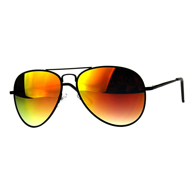 f5f0efc1ad Classic Cop Aviator - anteojos de sol (marco de metal, lentes con espejo)