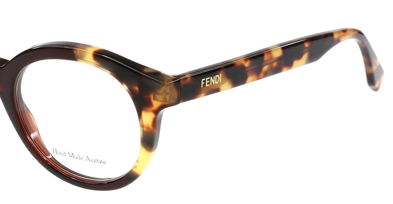 8b74f467820c Amazon.com  FENDI Eyeglasses 0067 0Mxu Black Olive Havana 47MM  Shoes