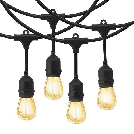 Amazon.com: EAGWELL - Guirnalda de luces LED para exteriores ...