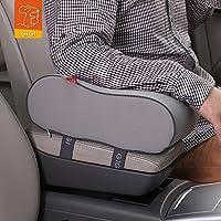 GiGi G-1589 Breathable Memory Foam Car Armrest Cushion Center Consoles Head Neck Rest Pillow Pad (Grey, G-1589B)
