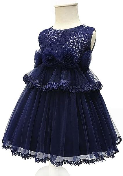 Shiny Toddler Vestido de Fiesta Tutu para Chicas 3m 6m Azul Marino