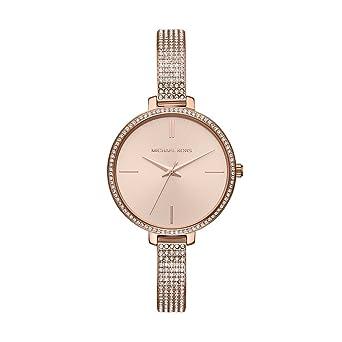 81c377bac9f0 Michael Kors Women's Jaryn Watch Analog-Quartz Stainless-Steel Strap, Rose  Gold,