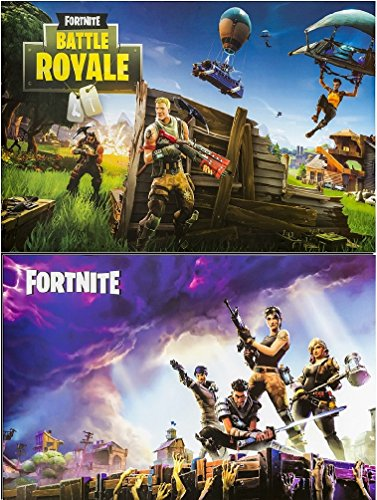 Fortnite Posters Fan Art Set of Two Posters, (Size 24x36 each) by Poster Art House