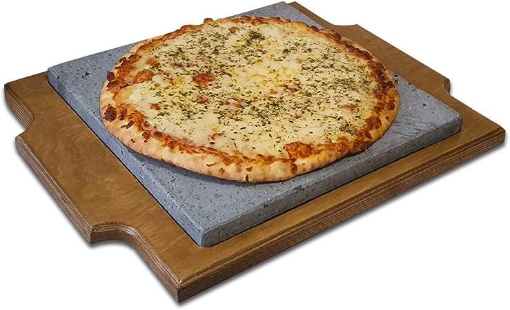 Premium Pizza Piedra volcánica de 30x30x2cm para Hornear y ...