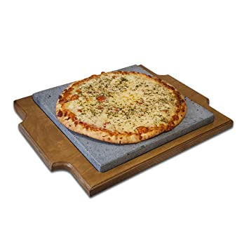 Premium Pizza Piedra volcánica de 30x30x2cm para Hornear y para ...