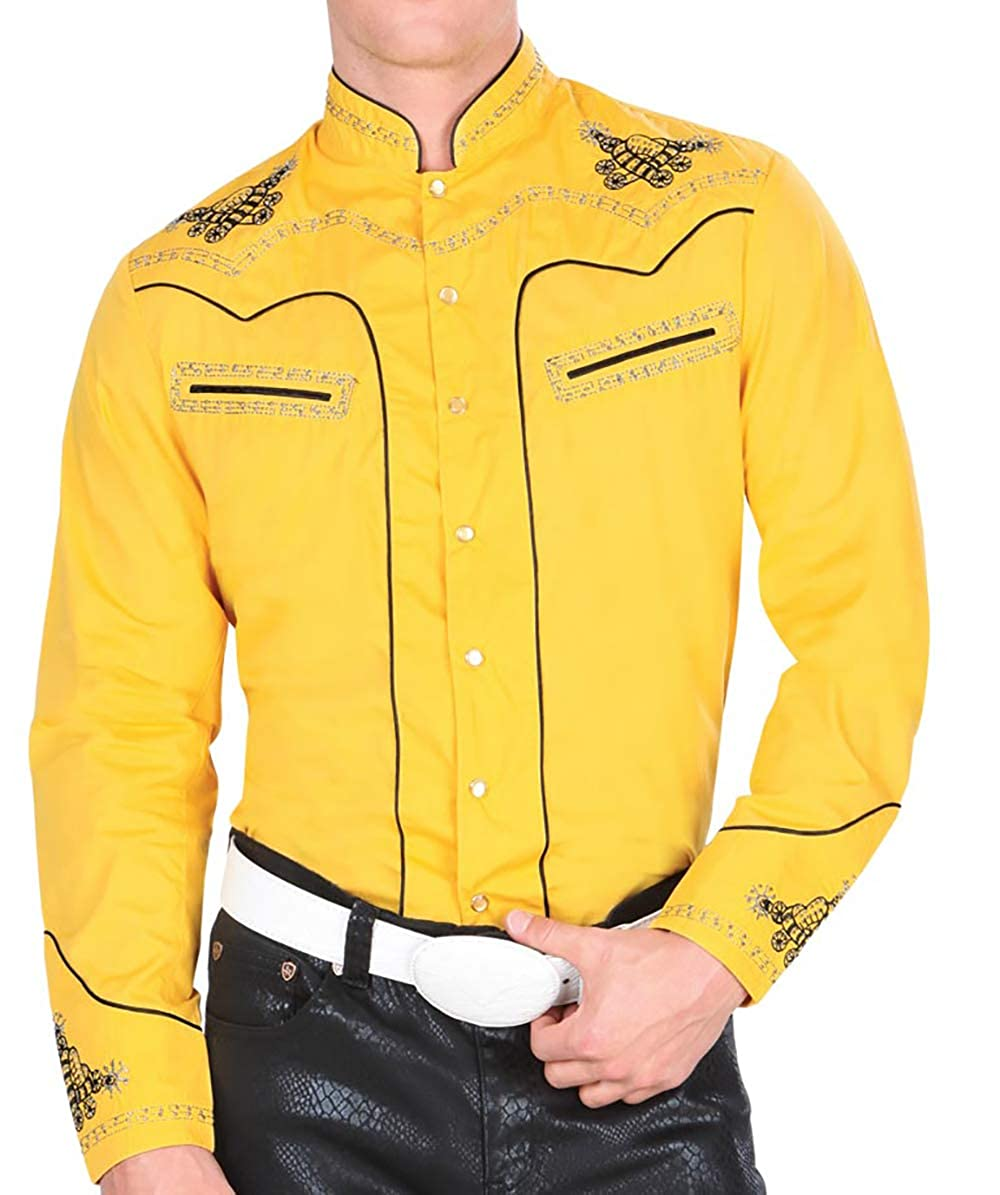 Montenegro Cowboy Shirt Long Sleeve Camisa Vaquera Color Yellow