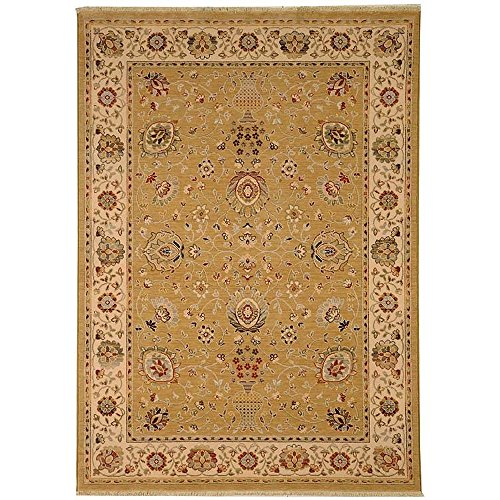 (Safavieh Stately Home Collection STH566C Gold and Ivory New Zealand Wool Area Rug (5'3