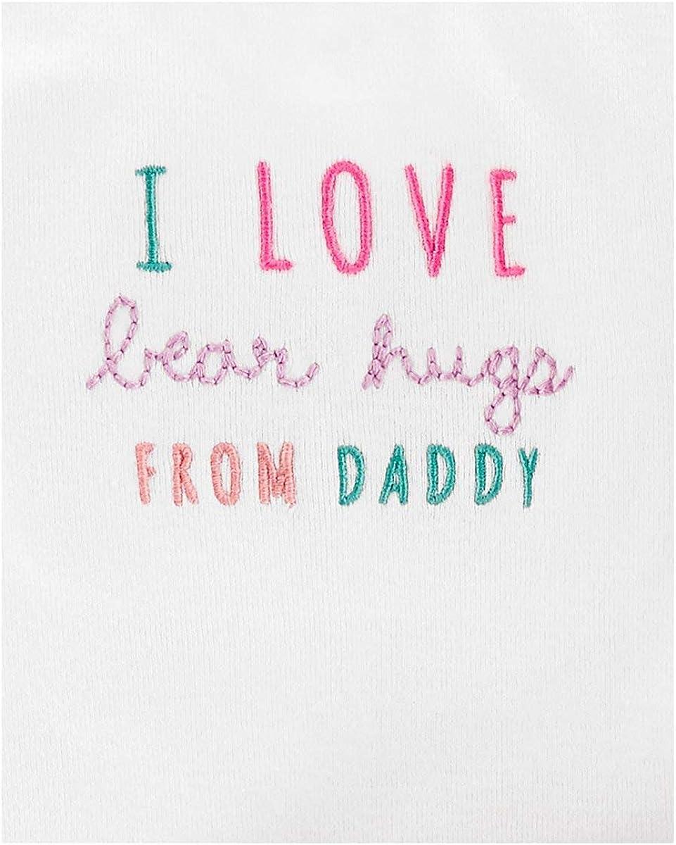 Bear Hugs Floral Layette Set Carters Baby Girls 3-pc