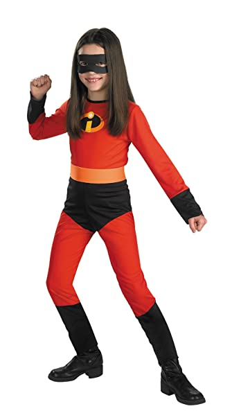 girls incredibles violet kids child fancy dress party halloween costume s 4 6