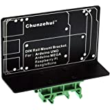 DIN Rail Mount Bracket for Raspberry Pi 1A+ 1B+ 2B 3B 3B+ 4B Zero, UNO Mega-2560 BeagleBone Black