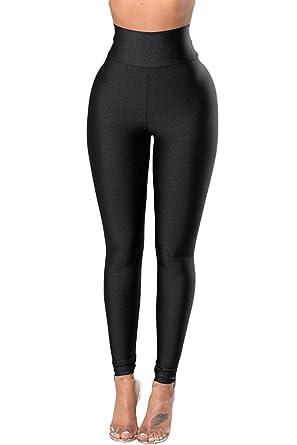 46d2a3cec31a Aranmei Sport Leggings Damen Yoga Leggings Schwarz High Waist Hose Skinny  Stretch Fitness Hose