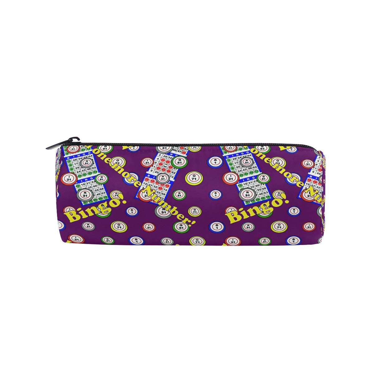 Staroklaho Bingo Pencil Pen Case Pouch Bag with Zipper for Girls Kids School Student Stationery Office Supplies