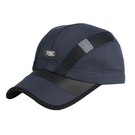 LINNUO Sombrero de Gorra de Béisbol Bordado Hombres Mujeres Sombrero de Sol de Verano Outdoor Sport Running Tenis Ajustable Hat… i2ZA8