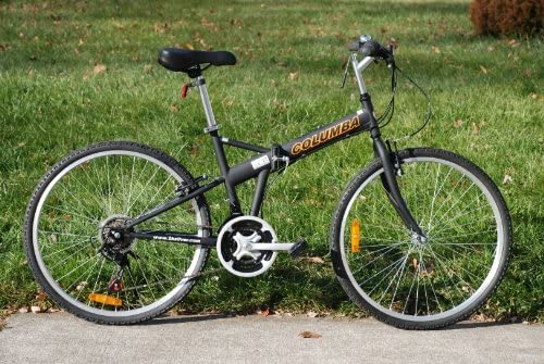 Columba 26 inch Folding Bike w. 18 Speed Black SP26S_BLK