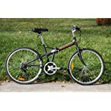 "Columba 26"" Folding Bike w. Shimano 18 Speed Black(SP26S_BLK)"