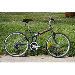 Columba 26 Folding Bike w. Shimano 18 Speed Black(SP26S_BLK)