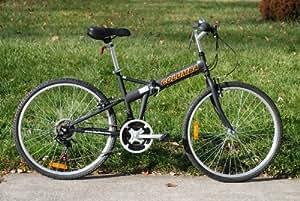 "Columba 26"" Folding Bike w. Shimano 18 Speed Black(SP26S_BLK)"
