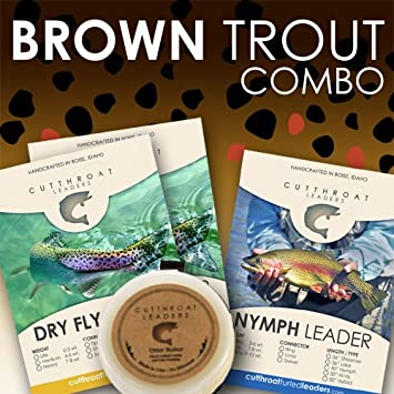 """CUTTHROAT ULTIMATE DRY FLY FISHING LEADER FOR 4-6 Weight Lines 76/"""""""