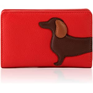 b6037c7c60 Yoshi Digby The Dachshund Sausage Dog Large Leather Zip Around Purse ...