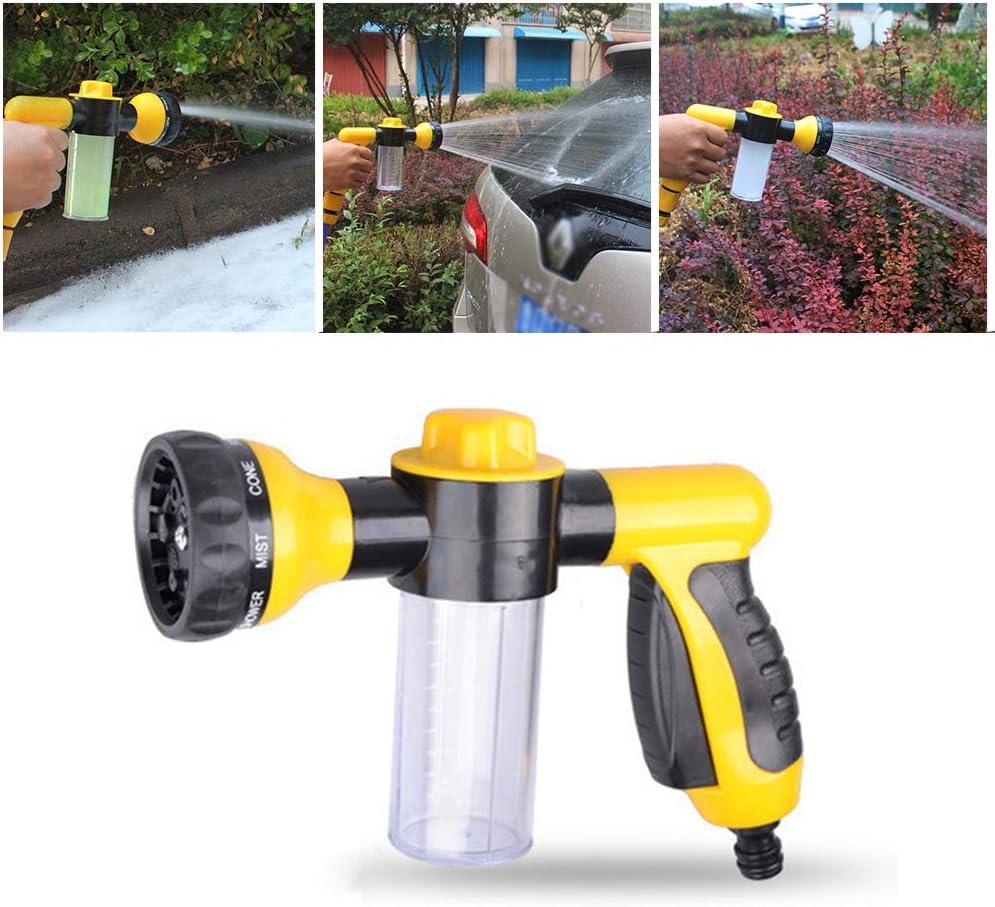 QYWJ Pistola de Espuma para automóviles, Pistola de Agua de Alta presión Ajustable 8 en 1, pulverizador para Lavado de automóviles, baño para Mascotas, riego de Jardines y Limpieza del hogar
