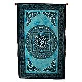 Indio OM Símbolo Meditación Decoración psicodélico para colgar en la pared Celtic Tapestry 203,2x 127cm