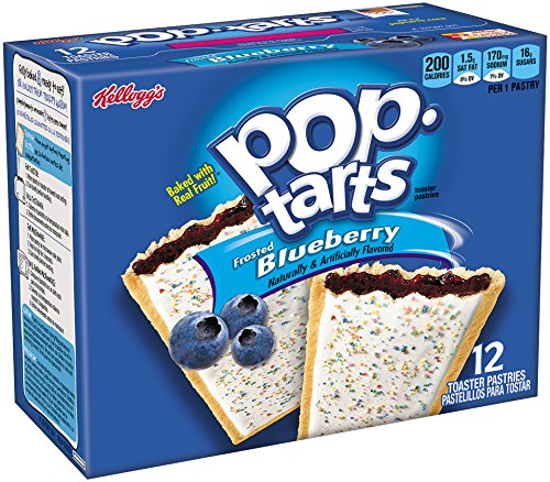 Kellogg's Pop-Tarts Toaster Pastries - Frosted Blueberry - 12 ct