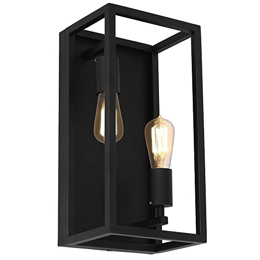 Culinary Concepts lámpara pared negro Bauhaus design 2 x E27 a hasta 60 W 230 V de metal, para cocina sala de comedor lámparas cámara iluminación interior: Amazon.es: Iluminación