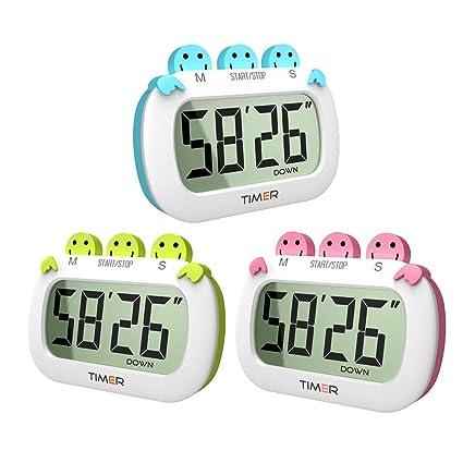 Temporizador digital de cocina Reloj de 100 minutos Cronómetro para cocinar, hornear, lavar,