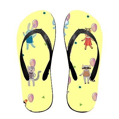 2b44f1971d93 ROOMY Birthday Celebration Flip Flops Funny Sandy Flat Thong Sandals  Slipper Mat for Men Women