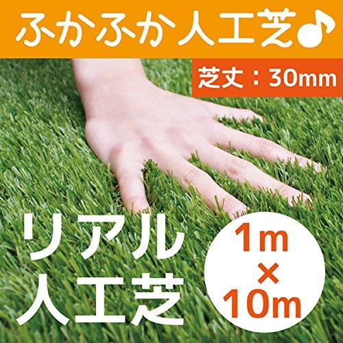まるで本物のような質感 ふかふかで気持ちがいい人工芝 芝丈30mm 1m×10m リアル人工芝 DAIM マット ロール式 芝生 B017R25ZJO 19800