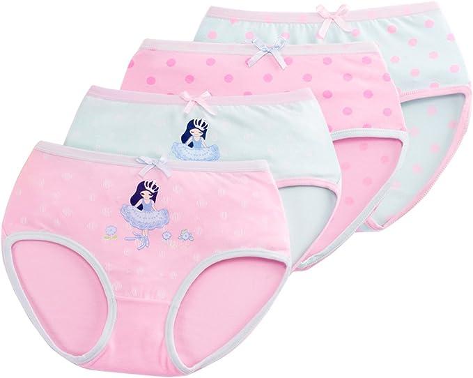 FEOYA Braguitas Niña Pack de 4 Ropa Interior Calzoncillo Underwear ...